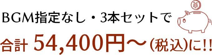 BGM指定なし・3本セットで合計54,400円(税別)~